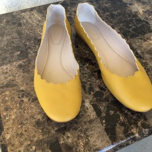 Chloe' yellow leather Lauren Flats size 38 Women's